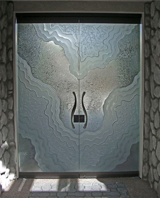 Metamorphosis All Glass Frameless Entry Doors