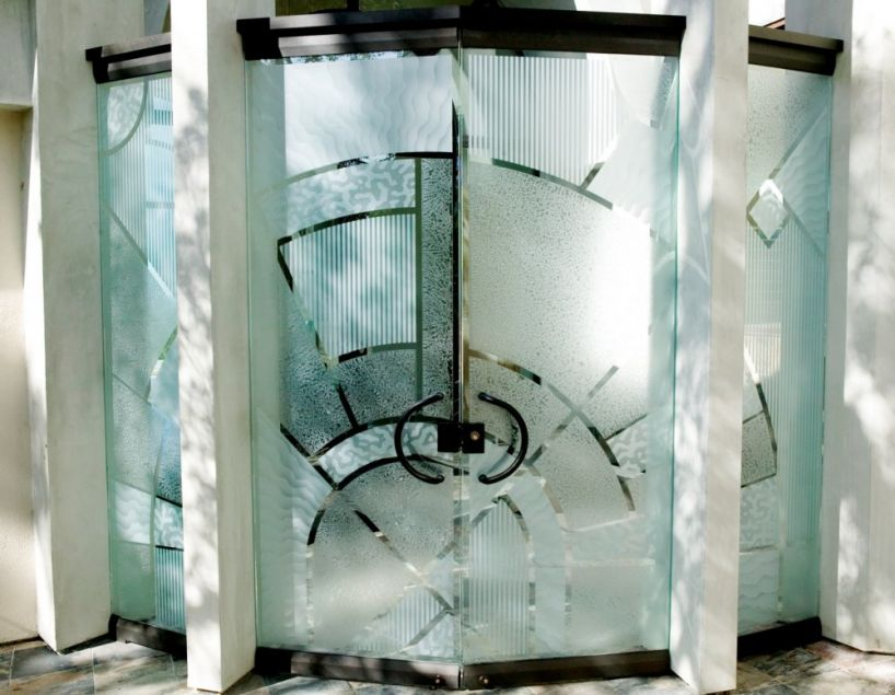 Matrix all glass entry doors sidelites for All glass front door