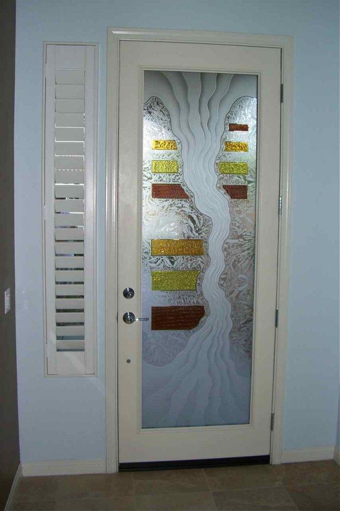 triptic door glass insert