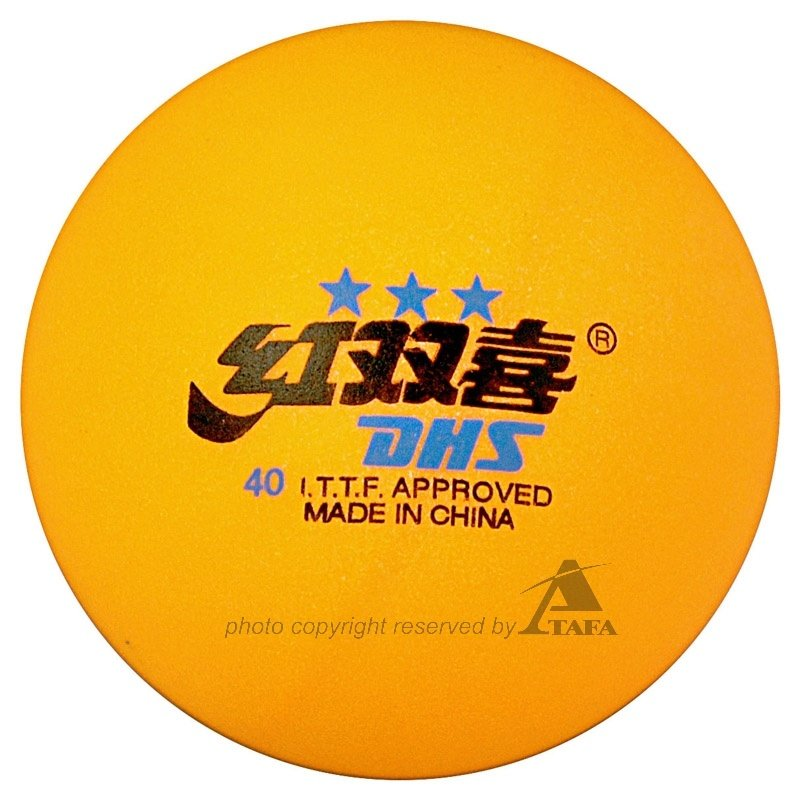 Dhs Ittf Approved 3 Star Olympic Games 40mm Table Tennis