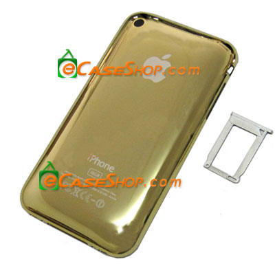 16GB iPhone 3GS Rear Case Housing Chrome Gold