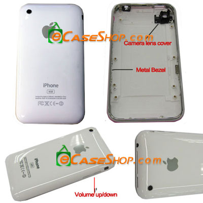 16 iPhone 3G Rear Panel Housing With Chromel Bezel
