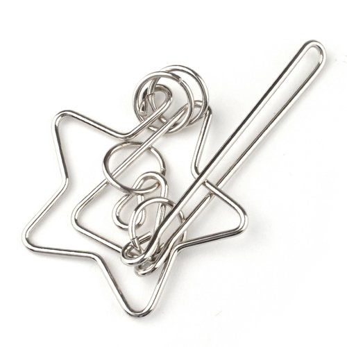 Brain Teaser and Puzzles Metal Puzzle Star Rings
