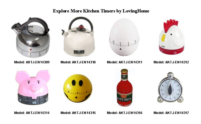 60-Minute Ladybug Kitchen Timer, Mechanical Counting Timer3