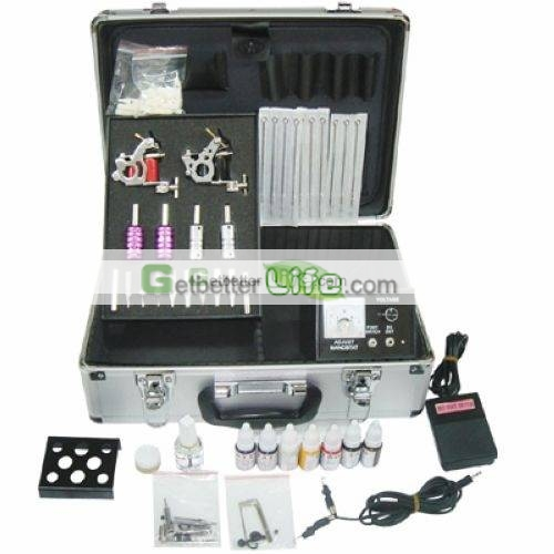 Free shipping cheap tattoo kit 2 machines guns 4 tubes for Cheap tattoo ink