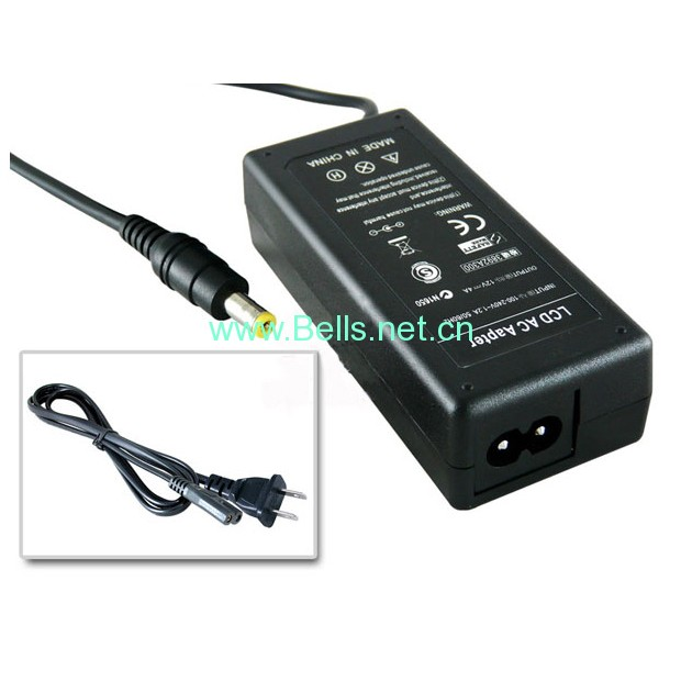 12V 4A AC Power Adapter for LCD Monitor Generic