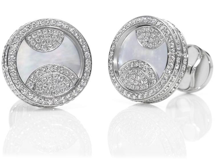 Diamond and Mother of Pearl Cufflinks