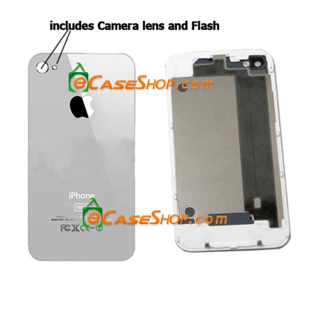 White Glass iPhone 4 16GB Back Cover Battery Door