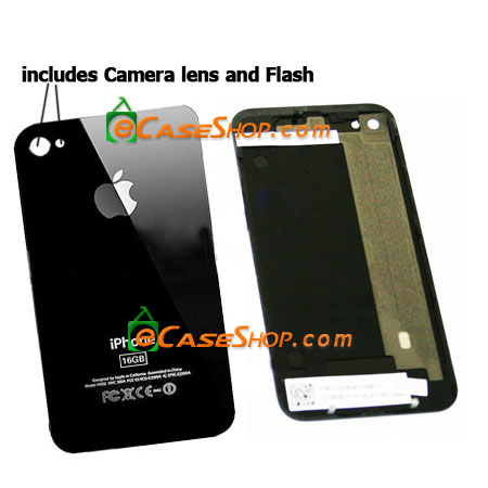 Black iPhone 4G 16GB Back Battery Door Cover Glass