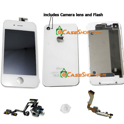 White iPhone 4 conversion Housing kit Battery Door
