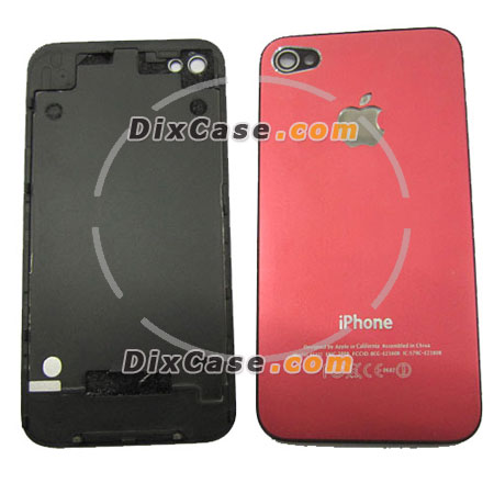 Housing Back Battery Cover for iPhone 4 red