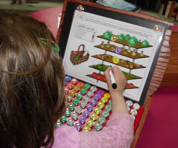 Use 130 Manipulatives & A Dry Erase Marker