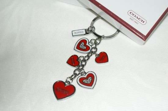 WHOLESALE NEW COACH DANGLING HEART KEYCHAIN