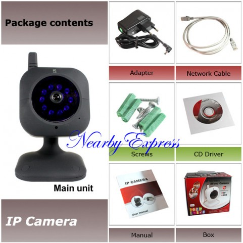 Wired IP Camera with Nightvision Two Way Audio 1