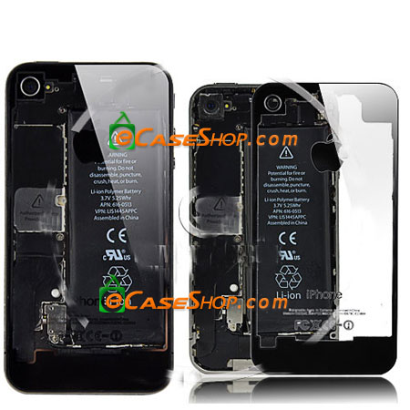 iPhone 4 Battery door Transparent Black
