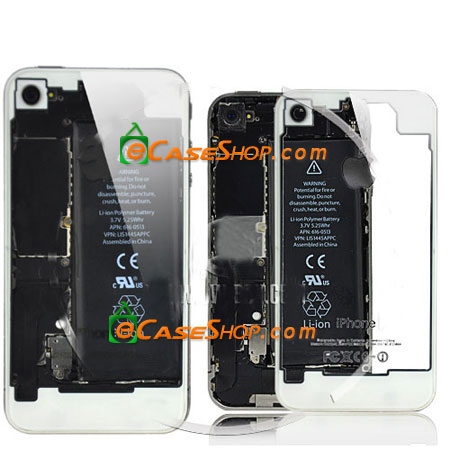 iPhone 4 Back Cover Transparent White