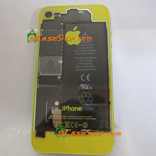 iPhone 4 Rear Case Transparent Yellow