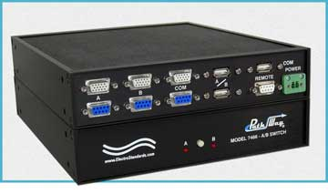 Model 7466 DB9, HD15, USB A/B KVM Switch