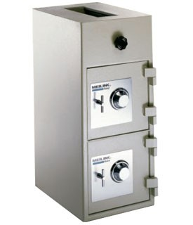 FireKing Meilink HB3314-DKC Double Door Rotary B Rate Deposit Safe
